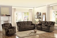 Motion Sofa Reclining and Love Seat New in the box Davenport, 33897