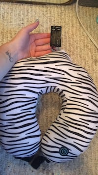 white and black zebra print pillow Spruce Grove, T7X 1R5