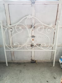 Double white metal head board $100 Vaughan