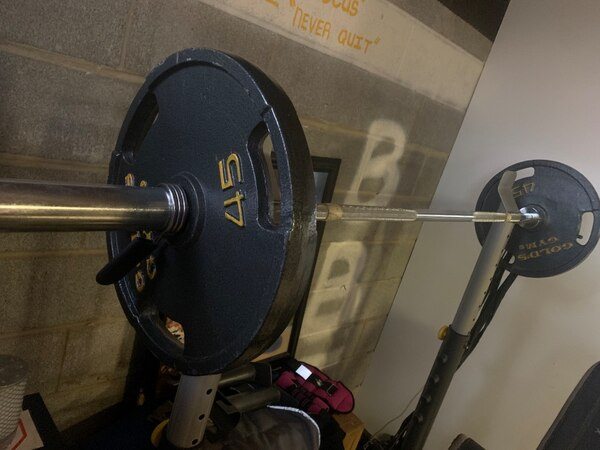 Golds gym Olympic squat and bench set(with weights) 90381d53-5297-499d-907c-9d29af326dd1