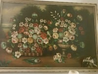 Large Flowers Oil Painting