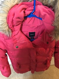 red zip-up parka jacket Centreville, 20121