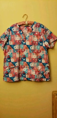 blue, pink, and white floral dress shirt Hamilton, 45013