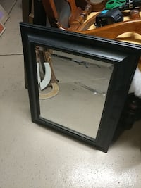 Beveled mirror in Black frame 22 by 27 inches