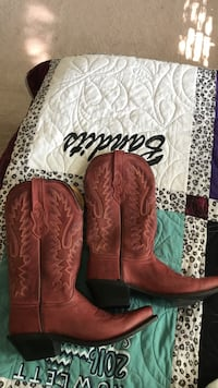 red leather boots Rowlett, 75089