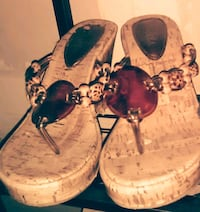 pair of brown leather sandals Erie, 16504