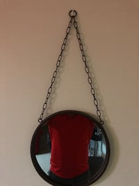 Creative Co-op DA1391 Round Metal Framed Mirror with Chain Takoma Park, 20912