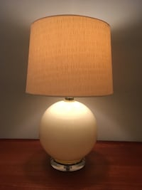 Mid century modern ceramic and Lucite table lamps