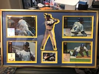 baseball player Ken Griffin Jr photos with gold plated frame LaGrange, 30240