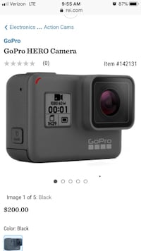 Go Pro Hero 6- Never Used 39 km
