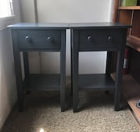 Pair of 2 side table wood bedside drawer San Diego, 92130