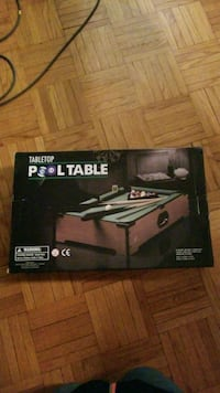 Table Top Pool Table-Price Drop