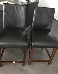Two black leather padded chairs Arlington, 22209