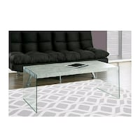 Glass  Coffee Table with Cement Look. Brampton