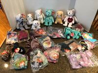 Lot of 23 Beanie Babies Full Size and Mini One Price is for All Manassas, 20112