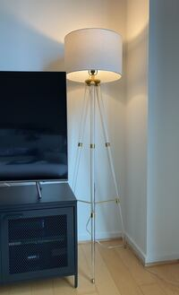 Lucite and Gold Floor Lamp Arlington, 22206