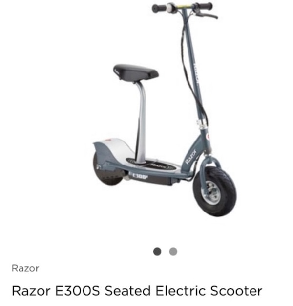 Razor e300s electric scooter with seat,charger, and manual
