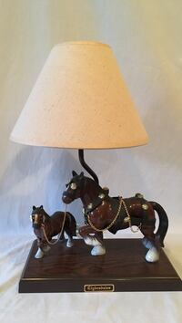 """Clydesdales horses lamp, 16"""" high Upper Macungie, 18104"""