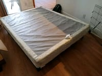 Queen size metal bedframe and boxspring Las Vegas, 89147