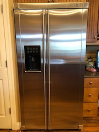 stainless steel side-by-side refrigerator with dispenser Ashburn, 20148
