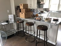 Three wooden and metal  bar stools Forest Heights, 20745