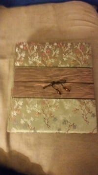 Sage green with flowers photo album