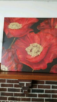 red and yellow flower painting Belmont, 02478