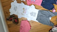 3 Pages of newborn clothes lot