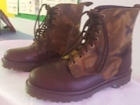 pair of brown leather work boots Vancouver, V5N 2T5
