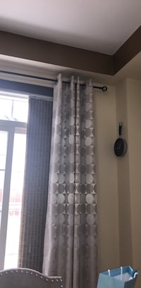 Pair of silver curtains Milton, L9T 0C6