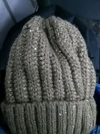 brown and gray knit cap null