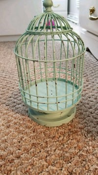 green and white metal birdcage 529 km