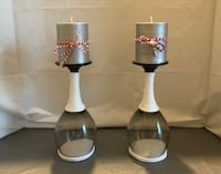 Wrapped Wine Glass Candle Holders