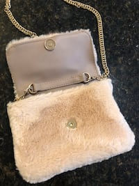 Pink Fur Purse/Clutch