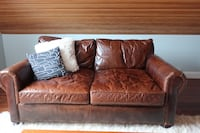 Restoration Hardware Leather Loveseat Cape Elizabeth, 04107