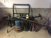 Exercise bench and weights and bars $100 firm  Bradford West Gwillimbury, L3Z 0K2