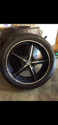 Set of 4 wheels and tires - dodge charger, 20 inch, 5x115, low offset, 275-40-20 tires, include lug nuts and centric rings Vancouver, V5R 6H8