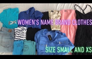 Very nice women's name brand clothes excellent condition size small and XS