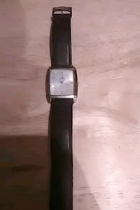 square silver-colored analog watch with black leat San Antonio, 78240