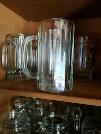 clear glass pitcher and drinking glasses Bellingham, 98229