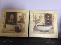two brown wooden framed paintings Newmarket, L3X 2Z5