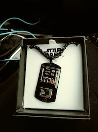 black Star Wars pendant necklace with box