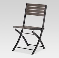 Set of 2 folding patio bistro chairs