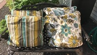 2 Floral & 2 striped throw pillows. Upper Providence, 19426