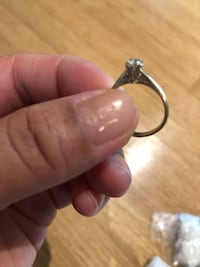 Real gold diamond encrusted ring