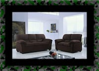 Chocolate microfiber sofa and loveseat McLean