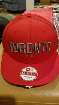 red and white San Francisco 49ers fitted cap Vaughan, L4H