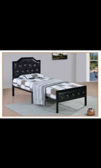 Twin Size Metal Bed, Black, White And Pink Color Available  West Greenwich, 02817