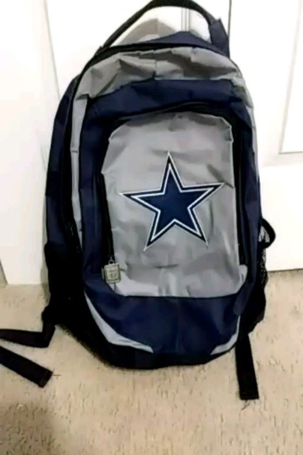 478ad5802fb Used black and blue Dallas Cowboys backpack for sale in Kings ...