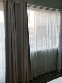 White sheer curtains / drapes Toronto, M5H 2N2